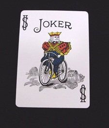 Baraja de forzaje Bicycle (Joker Multicolor) - DORSO AZUL