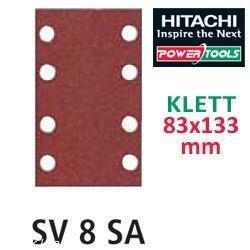 Hitachi-753007-Carta Exzenterschleifer, 83 x 133 mm, Körnung 180, mit Klettverschluss, ud. 10)