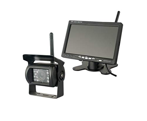 LWTOP 24V 7 Pouces Bureau sans Fil Affichage Bus Camion caméra sans Fil HD Vision Nocturne caméra de recul