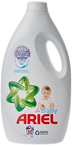 Ariel Baby Detergente Líquido para Lavadora, Poder Quitamanchas Incluso a 30 °C, 2.7 L, 50 Lavados