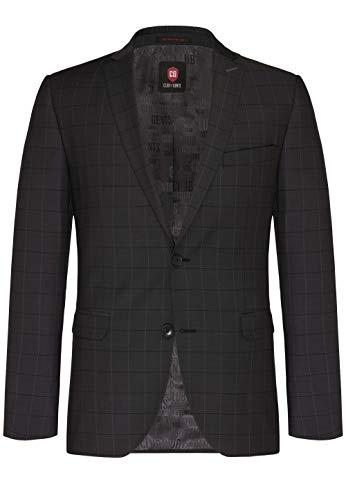CG - Club of Gents | Anzug-Sakko für Herren in grau | Slim fit | Herren Sakko mit Fensterkaro Muster grau,Größe 106