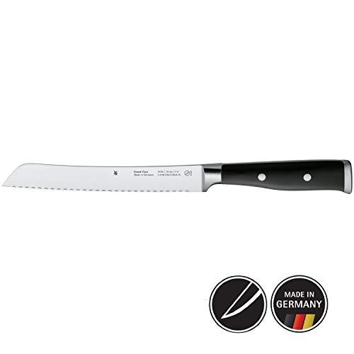 WMF Grand Class Brotmesser, Wellenschliff, 33 cm, Spezialklingenstahl, Messer geschmiedet, Performance Cut, Griff vernietet, Klinge 19 cm