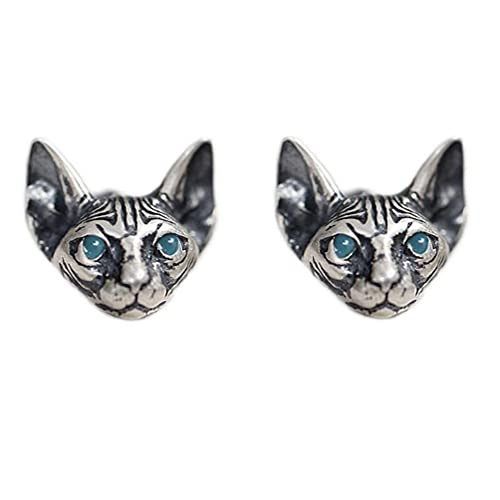 Abcidubxc 1 par de pendientes vintage con diseño de gato de araña, hipoalergénicos, punk y...