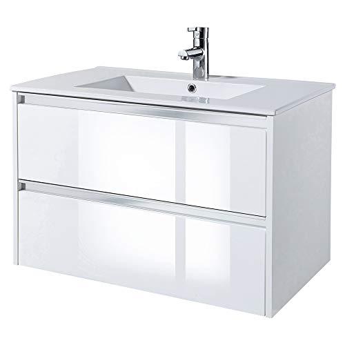 Selsey Antari - Mobile lavabo - mobile bagno - 80 cm - bianco – moderno