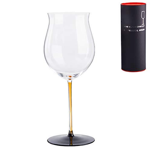 Großes Weinglas aus Kristallglas, 100 ml, Rot- oder Weißweinglas, Rotweinglas für Familienfeiern