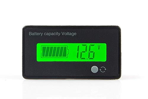 DollaTek Battery Capacity Tester & Voltage Meter mit LCD-Display mit Hintergrundbeleuchtung, wasserdicht 12V 24V 36V 48V Blei-Säure-Batterieanzeige Voltmeter Monitor Detector