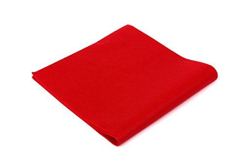 Tovaglie TNT - Formato cm. 100x100 - Confezione da 25 tovaglie in Tessuto Non Tessuto - Colore Rosso - Ideali per ristoranti, pizzerie, alberghi, trattorie, osterie, cene aziendali, buffet e congressi