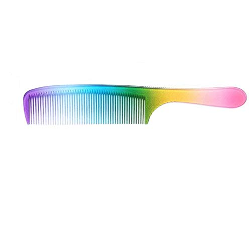 Haarkamm in Regenbogenfarben, hitzebeständig, antistatisch, leicht, tragbar