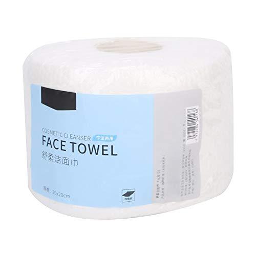 Flexibilidad Limpieza facial Eliminación de maquillaje Pañuelo facial de doble uso, Paño facial de algodón, para la limpieza del hogar de la chica de viaje