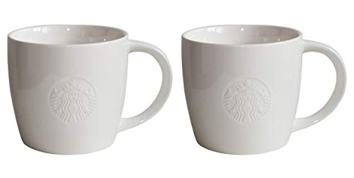 Starbucks Mug Venti Grande Fore Here Serie Weiss Collectors Set Varianten (2, Venti/20oz/591ml)