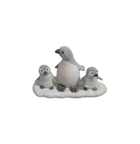 AC-Déco Figurine en Forme De Famille De Pingouins - Blanc