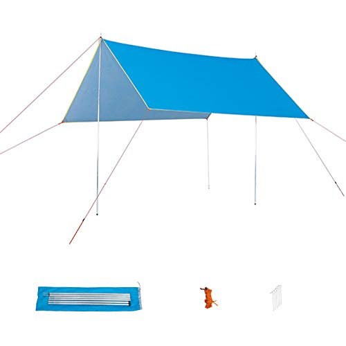 HSART Family Tent, Camping Tent Tarp Waterproof - Rain Fly Tent Tarp Light Ripstop Fabricanti-UV, for Camping, Travel, Outdoor, Hammocks
