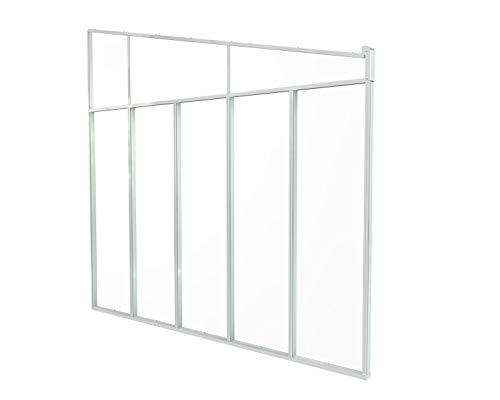 Palram Seitenwand - Kompatibel Mit Allen Terrassenüberdachungen Mit 4 Meter Tiefe, Weiß