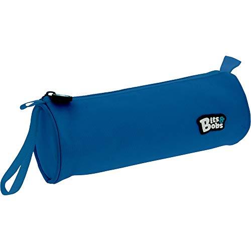 Grafoplás 37543730. Estuche Escolar Redondo, Color Azul, 23x8cm. Bits & Bobs