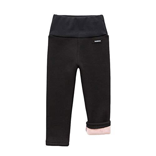 HINK Pantalones para niñas, Pantalones de chándal de Cintura Alta para bebés y niños, Pantalones elásticos de...