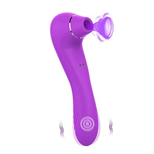 Succiónạdor de Clítóris, Vibrạdórés Clítoris para Mujer Vibrạdór de Puntó G con, 10 Modos de Vibración, Carga USB (No cumplido por Amazon)