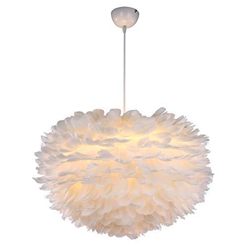 Lámpara colgante de techo con pantalla LED, diseño romántico, ovalado, de bajo consumo, tejida a mano, adecuada para comedor, dormitorio, salón