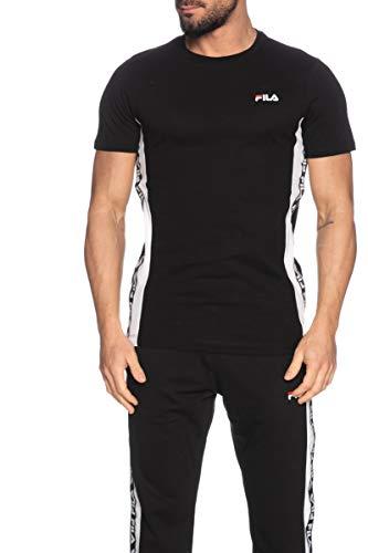 Fila T-Shirt Uomo cod.687709 Black-Bright White Size:S