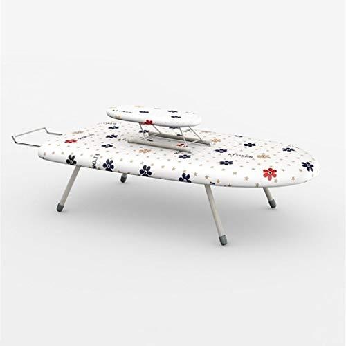 ZB-KK Tabla de planchar de 60 x 36 x 17 cm, tabla de planchar plegable de escritorio, panel de plástico transpirable, apto para guardarropa, dormitorio, metal, C, 60*36*17CM