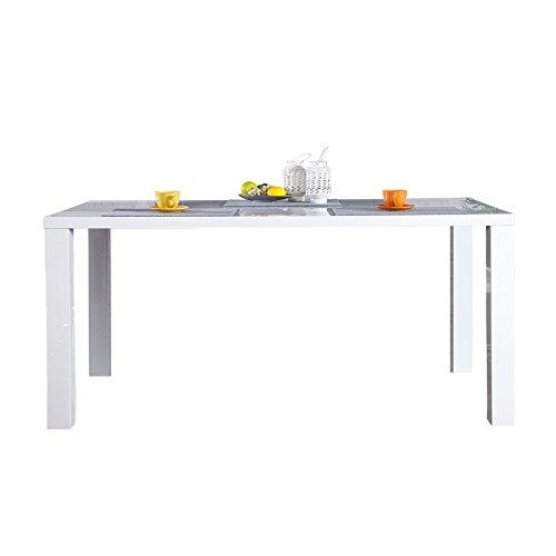Design Esstisch Lucente weiss High Gloss 160cm Küchentisch weiß Esszimmer Tische Hochglanz...