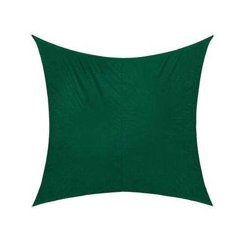 jarolift Sonnensegel Quadrat, Wasserabweisend, Sonnenschutz Sichtschutz für Terrasse Garten Balkon, Polyestergewebe, 300 x 300 cm, Grün