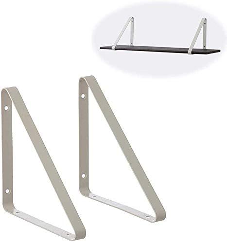 DX Rechthoekige beugel Zwevende planken Wandbeugel, 90 graden Decoratieve hoekbeugel Smeedijzeren plankbeugel Plankbeugel Houder Houder (24x24cm), Groen