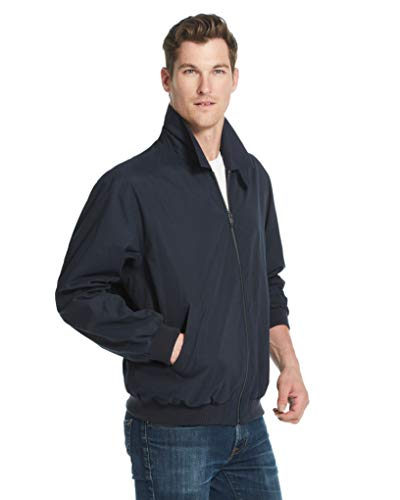Weatherproof Original Mens Golf Jacket (Mens Windbreaker) Classic Mens Light Jacket (Medium, Navy)
