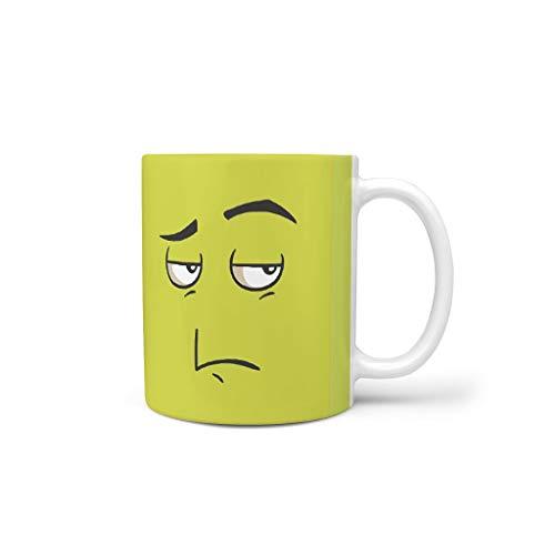 O2ECH-8 11 oz Onwillig gezicht dranken, cappuccino-mok met handgreep, hoogwaardige keramische humor beker - grappige uitdrukking Chanukka cadeau, voor restaurant gebruiken