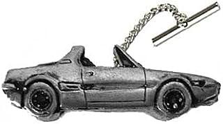 Automobile d'epoca italiana X19 1300 ref67 effetto peltro su una spilla con catena