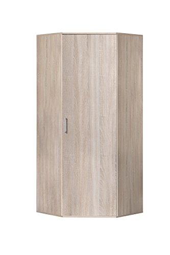 WILMES Ronny Mehrzweckschrank, Holzwerkstoff, Sonoma Eiche Dekor, 75x75x178 cm