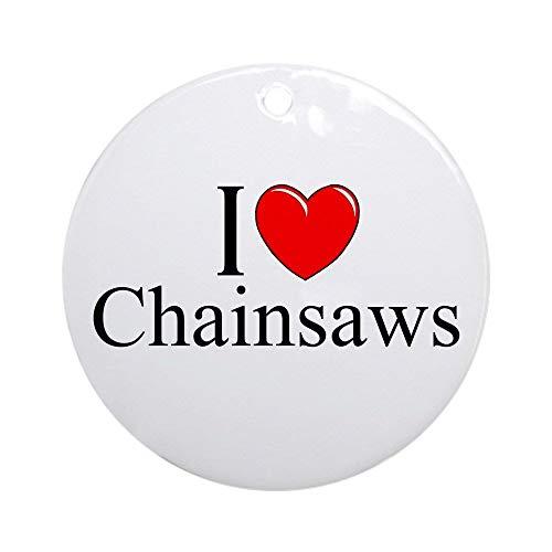 QgjayjqQ I Love (Heart) Chainsaws Ornament (Round) Personalized ceramic Holiday Christmas Tree Ornaments Ideas 2019