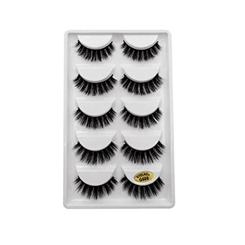NiceJoy Beauty Care Damen Simulation Lashes 3D Fashion Fluffy Wimpern Wiederverwendbare natürlich handgemachte weiche Locken Künstliche Wimpern Makeup Tools 10pair G600 Typ