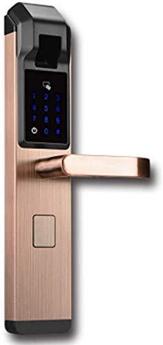 SHKUU Cerradura Puerta Inteligente App Semiconductor Tarjeta Bloqueo Huellas Dactilares Contraseña Inteligente electrónica Cerradura Seguridad Cerradura embutir Perno Sistema Seguridad para el hogar