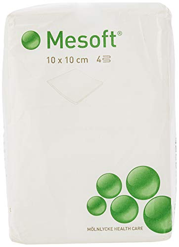 HENSITA Pack de 100 Tampons/Compresses Nontissés 10 x 10 cm