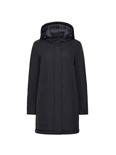 Geox W Gendry B Abrigo Impermeable, Negro (Black F9000), 44 para Mujer