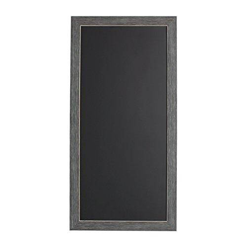 DesignOvation Wyth Framed Magnetic Chalkboard, 13x26, Gray