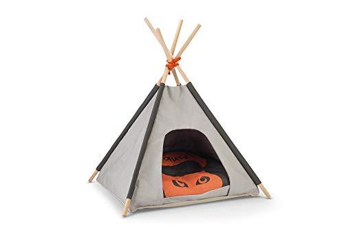 Beeztees BZ TIPI TENT MOHAKI GRS 50X50X70 Beeztees Mohaki Tipi Tent - Kattenhuis - Grijs - 50x50x70 cm, One Size, Multi