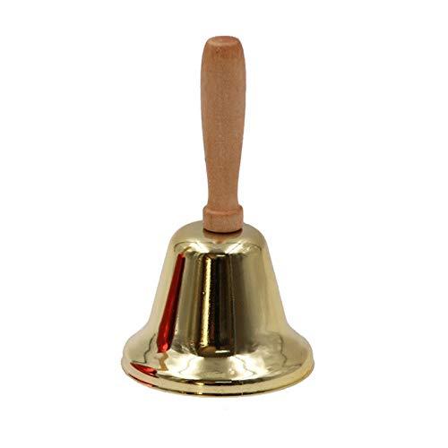 SIYANO Cascabel de Navidad de la campana, celebrar los sonajeros de la mano del anillo de madera, aleacin de mano de hierro arte multiusos cascabeles