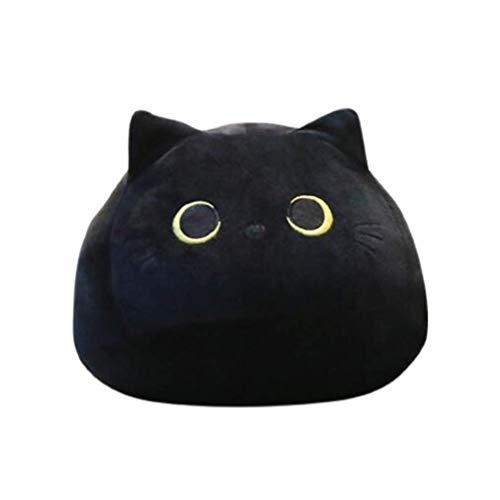 NLRHH Black Gato Peluche Juguete Dibujos Animados Gato Forma Almohada Tiro Relleno Almohada cojín para Valentines Regalo de cumpleaños Peng