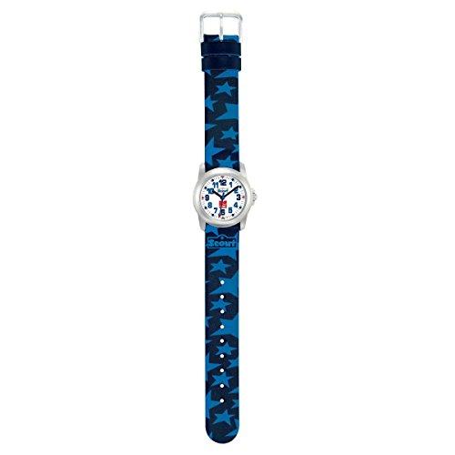 Scout Jungen Analog Quarz Uhr mit Lederimitat Armband 280307001