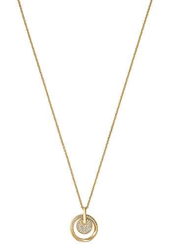 JETTE Damen-Kette 925er Silber 52 Zirkonia One Size Gold 32010178