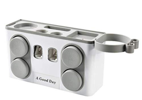 #N/A Multifunktionaler Kunststoffhalter Zahnbürstenbecherhalter Wandhalterung Ornament Aufbewahrungsbox Haushaltsbadezimmerzubehör (Wildgrau)