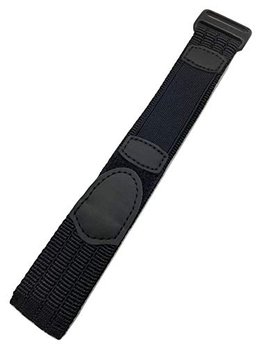 22mm Adjustable-Length, Black, Nylon Watch Strap | Heavy Duty, Hook and Loop, Sport Replacement Wrist Band for Men and Women