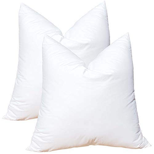 Pillowflex Set of 2 Synthetic Down Alternative Pillow Inserts for Shams (20 Inch by 20 Inch)