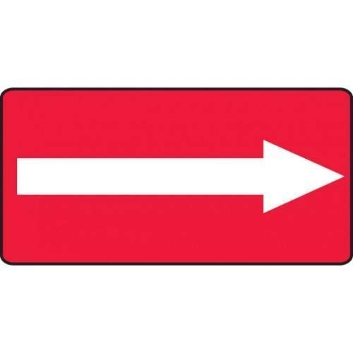 Accuform wholesale MADM418XV Safety Sign Max 50% OFF White Adhesive Dura Arrow Red On