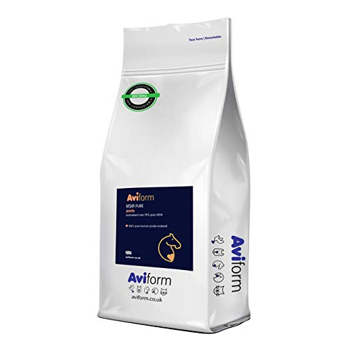 Aviform MSM Equine Joint Supplement for Horses - Highest Purity for Excellent Joint Maintenance, Healthy Growth of The Hoof, Tendons, Soft Tissue, Muscles and Ligaments - 2kg Compostable Pouch