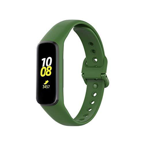YANGSANJIN activiteitstracker, riem voor Samsung Galaxy Fit-e SM-R375, snel armband, zacht, sportarmband, reservearmband gemaakt van siliconen, willekeurige kleurkeuze