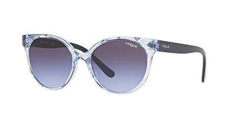 Vogue 0VO5246S Gafas de sol, Text Stripes Azz/Blue Tr Blue, 53 para Mujer
