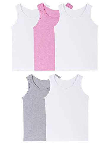 Fruit of the Loom Girls' Big Assorted Tank (Pack of 5), assorted/jersey, Medium