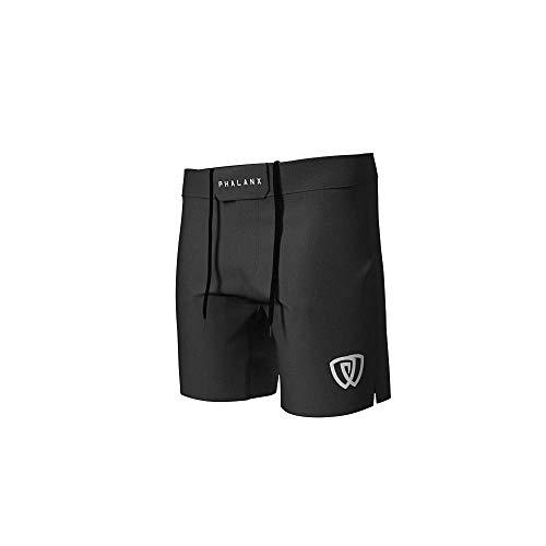 Phalanx Herren Fight Shorts für BJJ MMA, Wettkampfqualität Jiu Jitsu Gear für Herren - Schwarz - 32